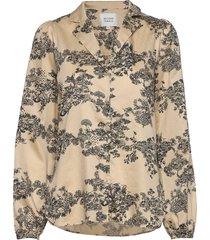 picnic ls shirt blouse lange mouwen beige second female