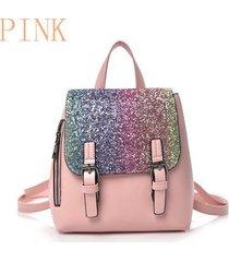 mochilas/ mochila de plata de la manera femenina 2018-rosa