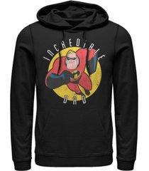 disney pixar men's incredibles super dad, pullover hoodie