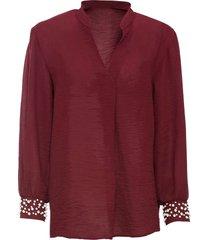 camicetta con perle (rosso) - bodyflirt