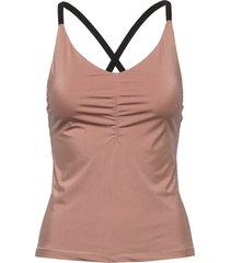 gathered strap top t-shirts & tops sleeveless rosa filippa k soft sport