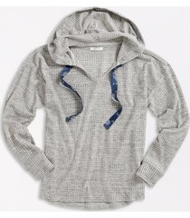 maurices womens solid gray waffle knit hoodie