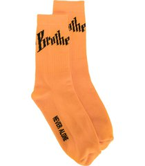 blood brother toby ribbed socks - yellow