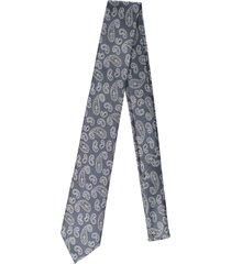 gravata alfaiataria burguesia jacquard 1260 fios grafite - kanui