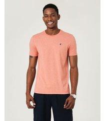 camiseta tradicional bordada malwee laranja - pp