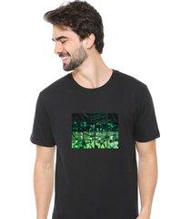 camiseta sandro clothing nature preto - preto - masculino - dafiti