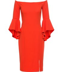 abito con spalle scoperte e maniche a campana (arancione) - bodyflirt boutique