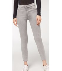 calzedonia push-up and soft touch jeans woman grey size xs
