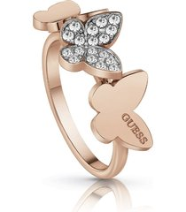 anillo guess love butterfly/ubr78005-54 - oro rosa