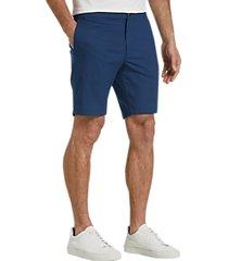 joe joseph abboud blue slim fit shorts