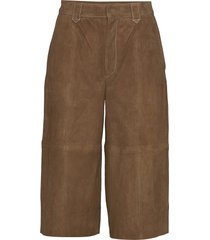 elliegz shorts hs20 leather leggings/broek bruin gestuz