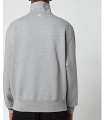 ami men's de coeur high collar sweatshirt - heather grey - xxl