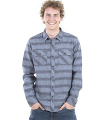 camisa hombre gris maui and sons