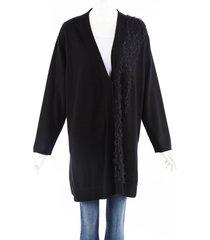 fabiana filippi black cashmere cardigan black sz: l