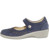 skor leonie blå