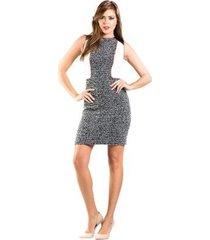 vestido tweed detalhe em courorecortes lume