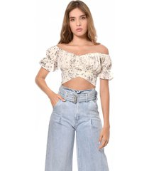 crop top beige primia siena