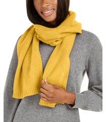 charter club cashmere rib muffler scarf, created for macy's