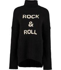 zadig & voltaire alma turtleneck merino wool sweater