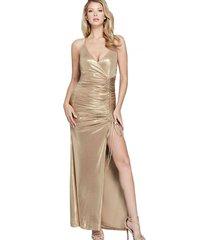 vestido sunset gown dorado guess marciano