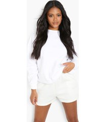 petite oversized gerecyclede sweater, white