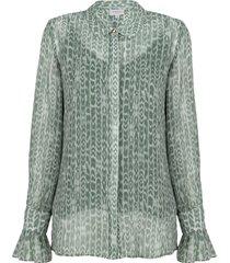 blouse met print orelie  groen