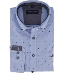casa moda overhemd casual fit blauw printje