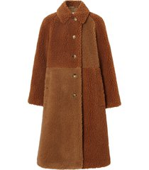 burberry teddy bear coat - brown