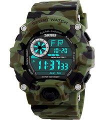reloj deportivo skmei militar ref 1019 camuflado verde