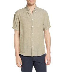 men's billy reid tuscumbia short sleeve linen button-down shirt