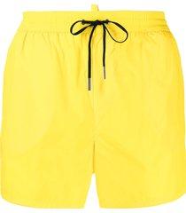 dsquared2 logo-tape swim shorts - yellow
