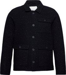 jalte nepyarn jacket nep yarn wool tunn jacka blå casual friday