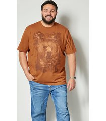 t-shirt men plus kamel::chokladbrun