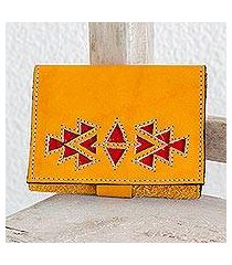 leather wallet, 'living culture' (nicaragua)