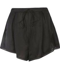 saint laurent drawstring waist shorts