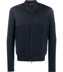 emporio armani spread collar jacket - blue