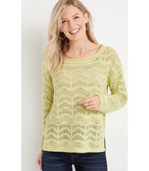 maurices womens open stitched pullover
