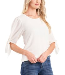 cece bow-detail puff-sleeve blouse
