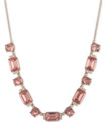 """givenchy pave & stone collar necklace, 16"""" + 3"""" extender"""