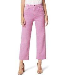 women's joe's the blake high waist raw hem crop wide leg jeans
