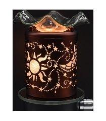 copper sun & moon wall plugin oil/tart warmer use with scentsy/yankee candle wax
