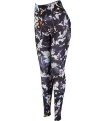 calça legging nike all in tight print - feminina - preto/cinza esc