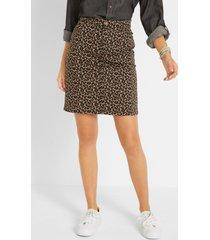stretch rok met luipaardprint