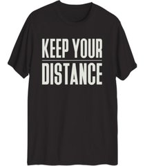 hybrid men's keep your distance graphic t-shirt