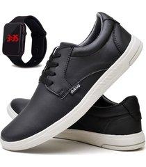 tãªnis sapatãªnis casual fashion com relã³gio led masculino dubuy 1401el preto - preto - masculino - sintã©tico - dafiti