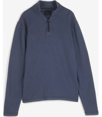 lucky brand men's french rib quarter zip mock neck pullover sweatshirt