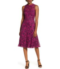 women's eliza j floral lace fit & flare dress