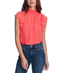 1.state flutter-sleeve solid top