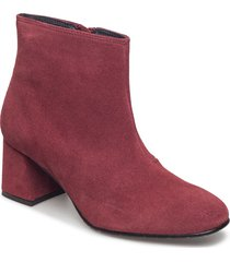 suede ankle boot shoes boots ankle boots ankle boot - heel röd ilse jacobsen