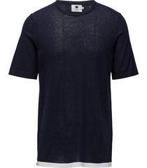 cotton short sleeve 6279 t-shirts short-sleeved blå nn07